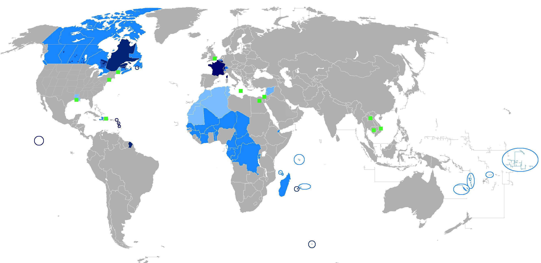 paises idioma oficial francés