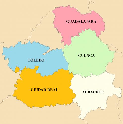 mapa provincias castilla la mancha