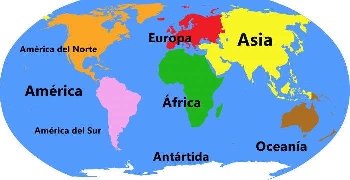 Cuántos Continentes Hay En El Mundo Cuáles Son Libretilla