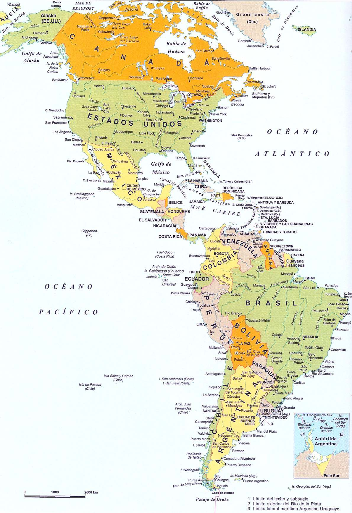 Los 35 Países De América Y Sus Capitales Mapa Incluido Libretilla