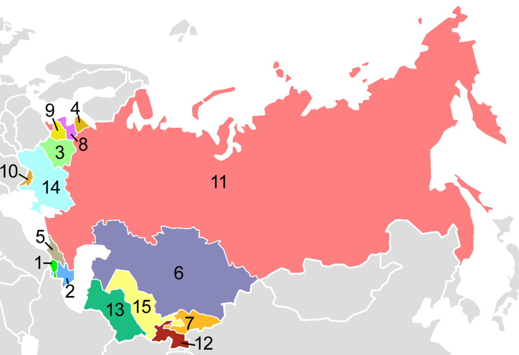 mapa union sovieta