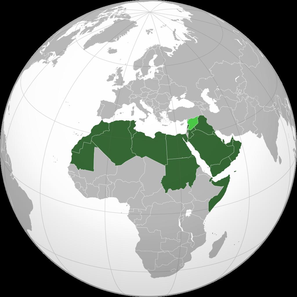 mapa paises arabes