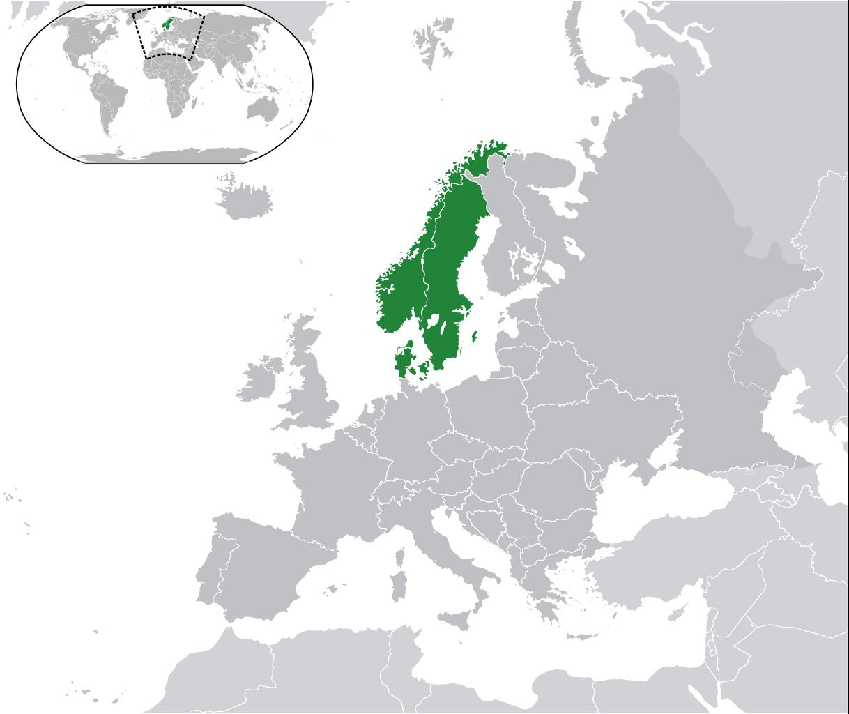 mapa escandinavia