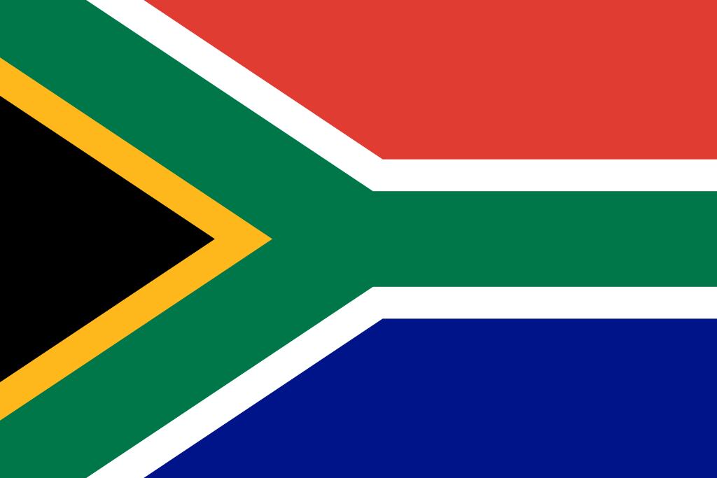 Bandera de República Sudafricana