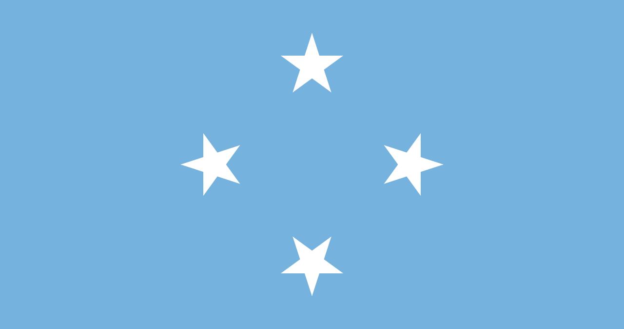 Bandera de Estados Federados de Micronesia.
