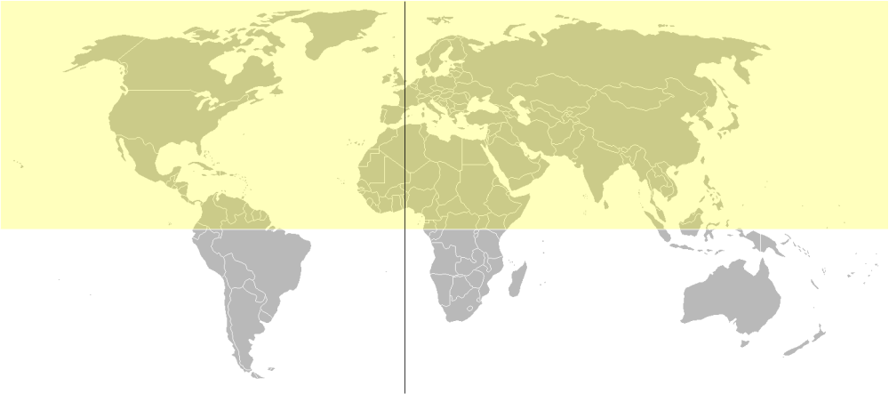 hemisferio norte paises