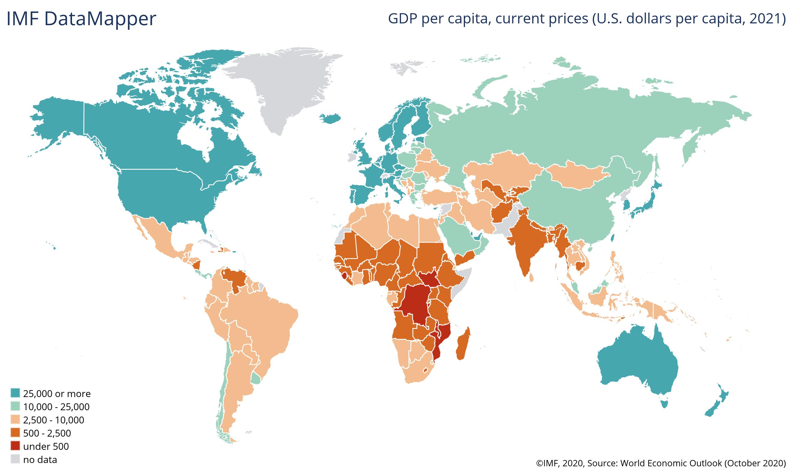 pib per capita mapa